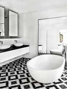 Carrelage Salle De Bain Noir Et Blanc : carrelage salle de bain noir et blanc et meuble salle de bain noir et blanc ~ Dallasstarsshop.com Idées de Décoration
