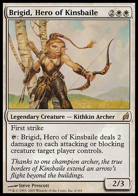 Kithkin Deck Magic The Gathering by Brigid Of Kinsbaile Mtg Card