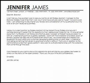 art gallery assistant cover letter sample livecareer With artist cover letter to gallery sample