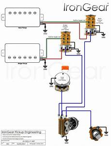 Guitar Wiring Diagrams 2 Pickups 1 Piezo