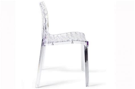 chaise gruyer lot de 2 chaises transparentes gruyer chaises design pas