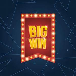 Big Win banner. stock vector. Illustration of internet ...