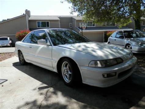 Acura B16 Service by Buy Used White 1991 Acura Integra Ls Hatchback 5 Speed B16