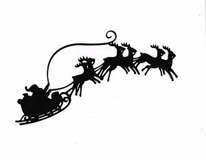 Large Santa Sleigh Reindeer Silhouette Die By