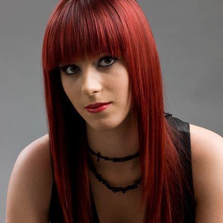 braune haare mit roten strähnen rote haare mit blonden str 228 hnen