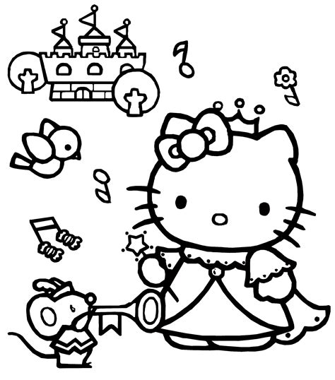 kitty coloring pages    princess hd