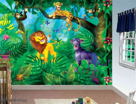 jungle cats buy prepasted wallpaper murals muralunique