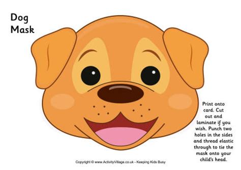 Free Printable Dog Mask