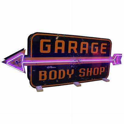 Signs Sign Neon 1950s Garage 1stdibs Sided