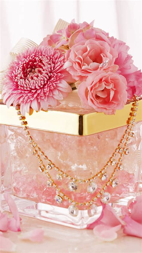 Gold Girly Home Screen Wallpaper by T 233 L 233 Charger Vintage Girly Pink 750 X 1334 Home Screen