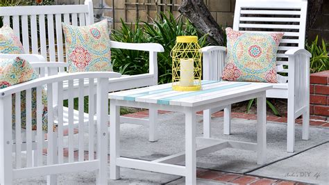 When you build an outdoor table yourself, either from scratch or from upcycled materials you already own, the project is doubly easy on the wallet. Easy $15 DIY Outdoor Coffee Table - Free Plans And Step By Step Tutorial