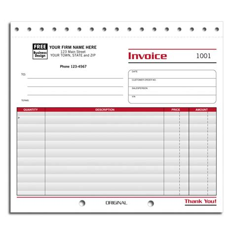 compact business invoice forms  shipping