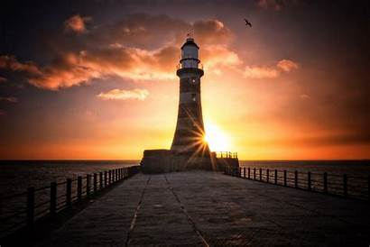 Lighthouse 4k Wallpapers Roker Laptop Sunset Nature