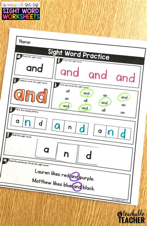 editable sight word worksheets sight word worksheets