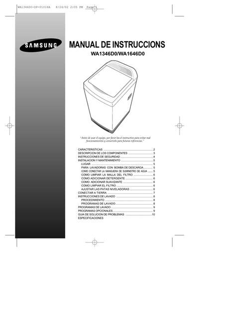 Samsung WA1346D0 Manual de usuario manualzz com