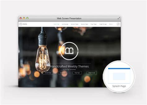 splash page template splash page features premium weebly templates divtag template milo theme