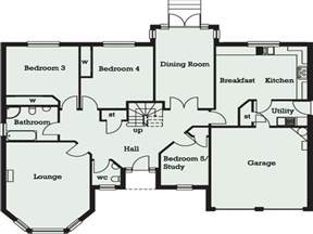 Five Bedroom Home Plans Photo by 5 Bedroom Bungalow In 5 Bedroom Bungalow Floor Plans