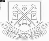 Ham United League Fc Coloring Premier Badge Colorir Distintivo Futebol Kleurplaten Engeland Hammers Manchester Kleurplaat Voetbalcompetitie Emblemen Vlaggen Template Logotipo sketch template