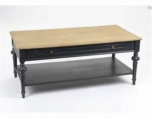 Table Bois Et Noir : table basse noire c rus e avec plateau ch ne clair amadeus ~ Dailycaller-alerts.com Idées de Décoration