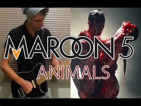 maroon  animals guitar electric cover youtube