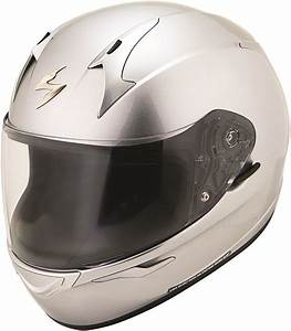 Scorpion Exo R410 Full Face Motorcycle Helmet Silver