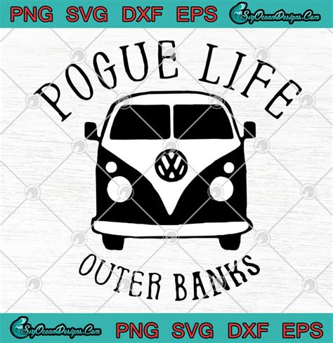 Free halloween svg files for digital crafts. Hippie Car Pogue Life Outer Banks SVG PNG EPS DXF Cutting ...