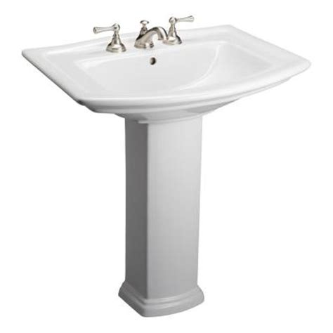 home depot pedestal sink cabinet washington 650 25 in pedestal combo bathroom sink in