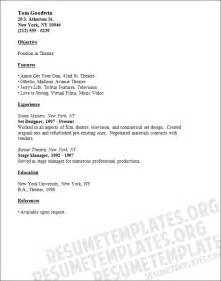 theatre resume exle theater acting resume template cv sles for theatre