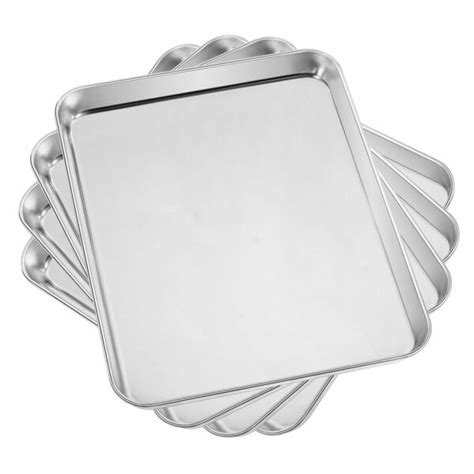 sheet baking stainless oven steel pans toaster pan cookie tray sheets inch cake dishwasher