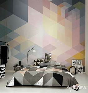 Modern ideas for bedroom decorating with bold geometric