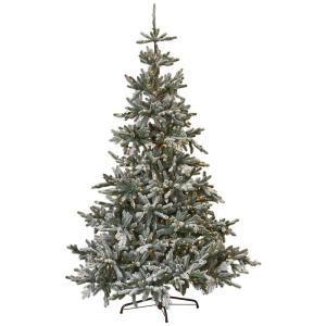 martha stewart faux christmas tree martha stewart living 7 5 ft indoor pre lit snowy
