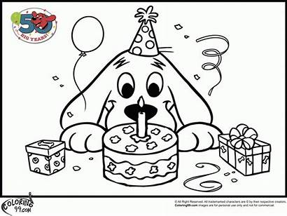 Coloring Clifford Pages Birthday Printable Pdf Dog
