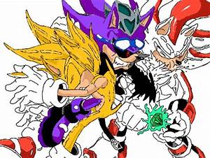 super scourge vs super sonic and super shadow