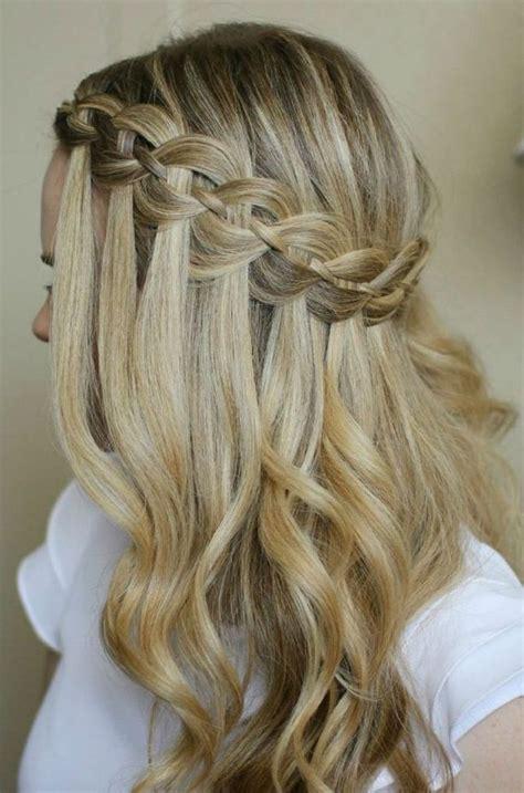 flechtfrisuren lange haare wasserfall frisuren