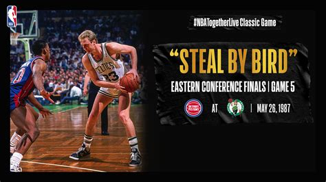 #NBATogetherLive: Larry Bird's iconic steal helps Celtics ...