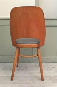 Chaise Bois Vintage : slavia vintage mobilier vintage chaise ton en bois courb nordic ~ Teatrodelosmanantiales.com Idées de Décoration