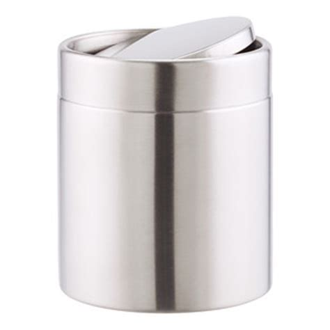 Stainless Steel Swing Lid Countertop Trash Can   The