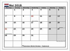 Kalender mei 2018, Nederland
