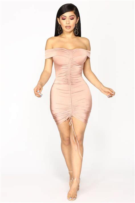 bangkok ruched dress mauve   fashion nova