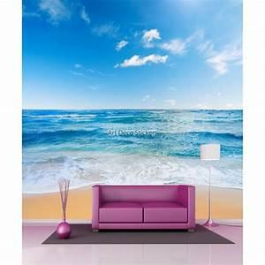 Papier Peint Geant : papier peint g ant ciel mer sable 11095 stickers ~ Premium-room.com Idées de Décoration
