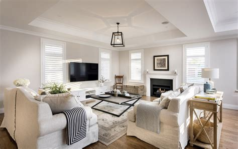 Hamptons Style Living Room With Slip Cover Sofas