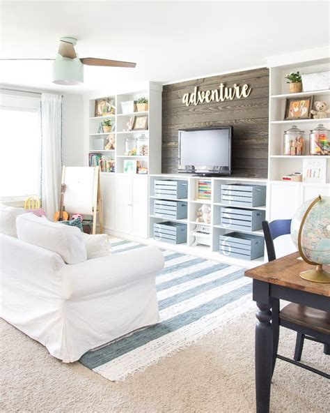 smart storage ideas for small spaces 30 smart storage ideas for small spaces 30 | Eclectic Farmhouse Playroom Makeover dwellingdecor