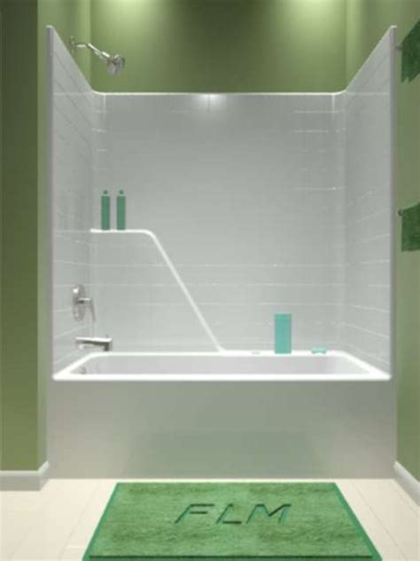 One Piece Tub and Shower Combo