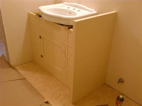 custom  bath cabinet  pedestal sink  artisan