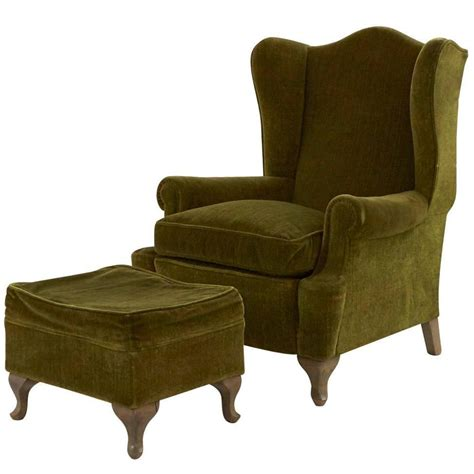 wingback chair and ottoman vintage wing chair and ottoman for sale at 1stdibs