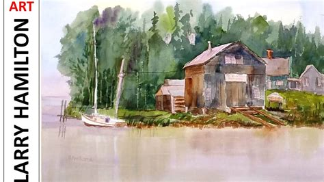Boat Repair Hamilton by Painting With Larry Hamilton 1703 Watercolor Quot New