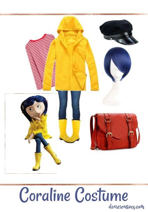 Easy No Sew Diy Coraline Halloween Costume