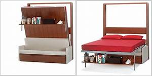 11 space saving fold down beds for small spaces furniture for Flip down sofa bed