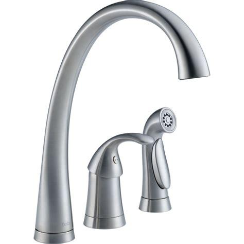 kitchen faucets delta faucet 4380 ar dst pilar arctic stainless one handle