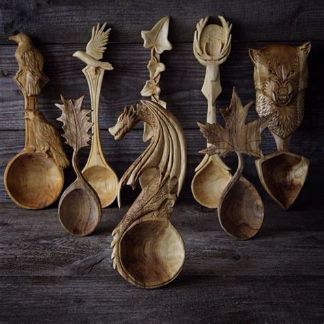 amazing carved wooden spoons